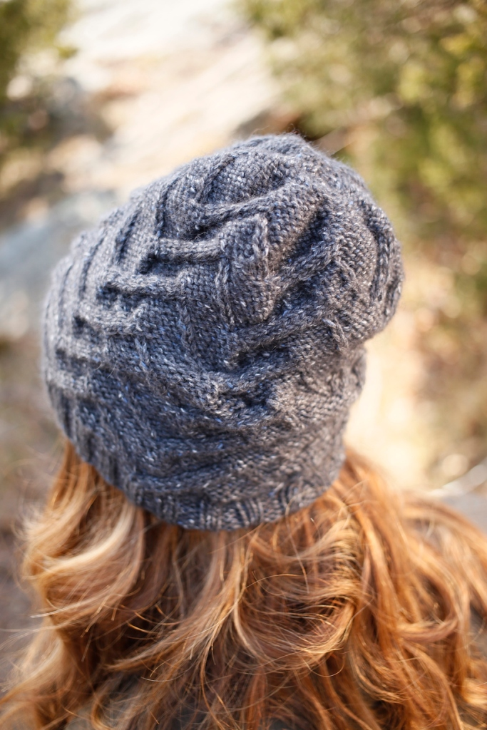 Witch Hazel hat knitting pattern in Berroco Tuscan Tweed