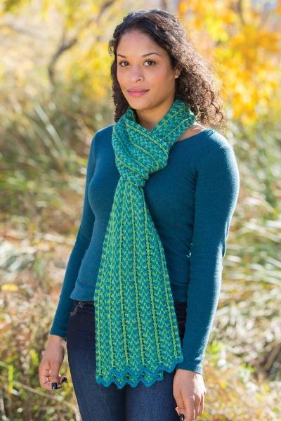 Clupeidae scarf knitting pattern Barbara Benson