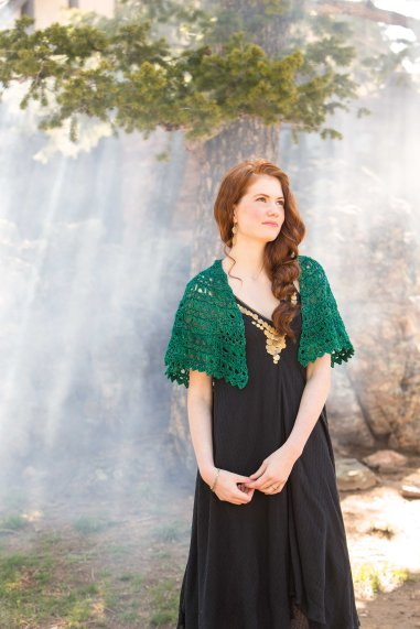 Flying Broomstick crochet lace shawl by Brenda K.B. Andersen