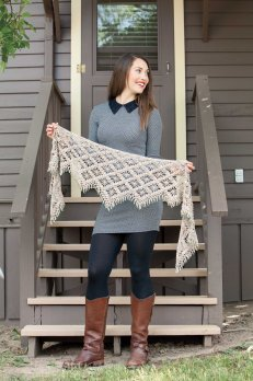 Emergence crochet shawl by Kathryn White