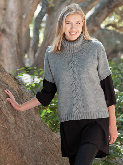 Shawdowplay Pullover knitting pattern by Sandi Prosser knit in Berroco Ultra Wool