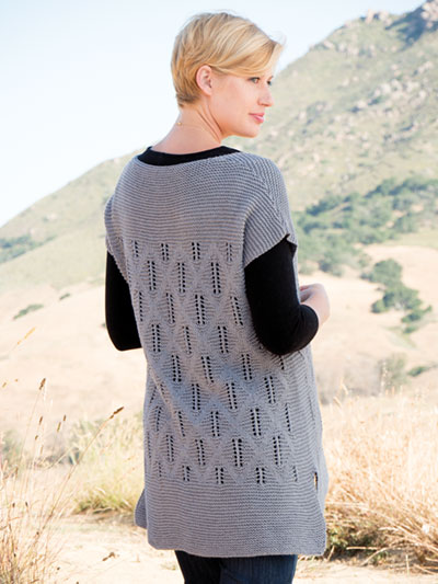 Twin Ridge Tee by Alison Green knit in Berroco Fiora