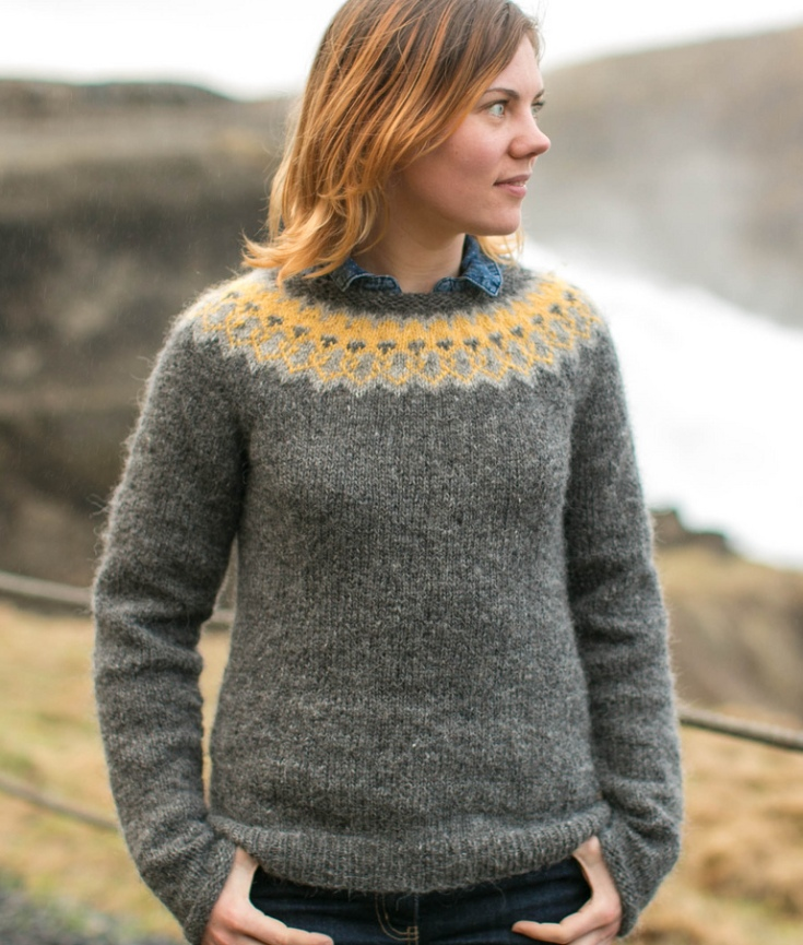 Strokkur sweater knitting pattern by Ysolda Teague