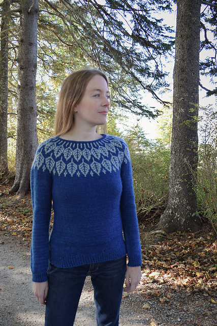 Jennifer Steingass Arboreal sweater knitting pattern
