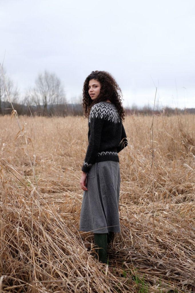 Jennifer Steingass Dreyma top-down sweater knitting pattern