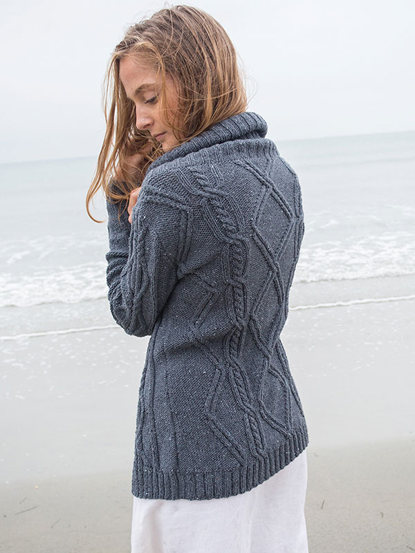 Larkspur cardigan knitting pattern Amy Christoffers