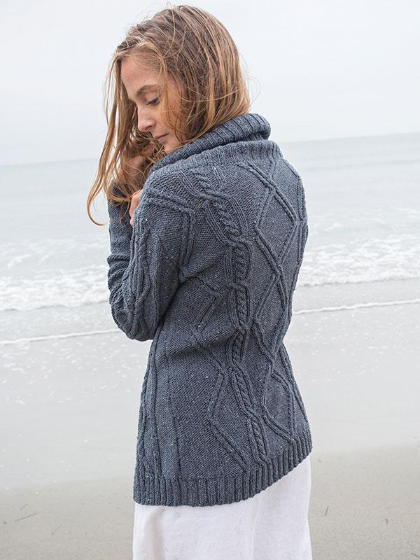 Larkspur cardigan knitting pattern Amy Christoffers