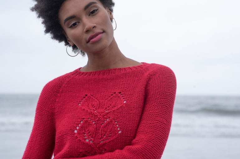 Gallikos sweater knitting pattern in Berroco VIbe