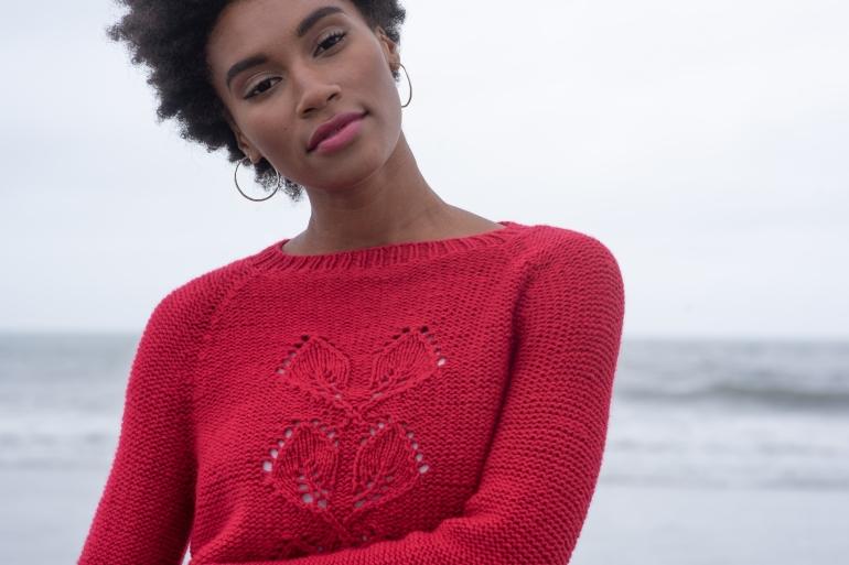 Gallikos sweater knitting pattern in Berroco VIbe