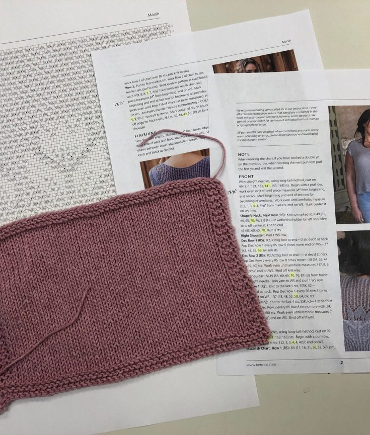 Getting ready for the Marsh + Mallow Knit-along