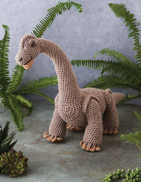 brachiosaurus crocheted stuff toy
